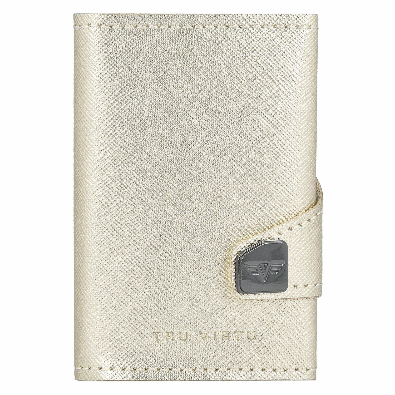 60b549753637 Tru Virtu Click   Slide Porte-cartes de crédit cuir 6,5 cm Aluminium ...