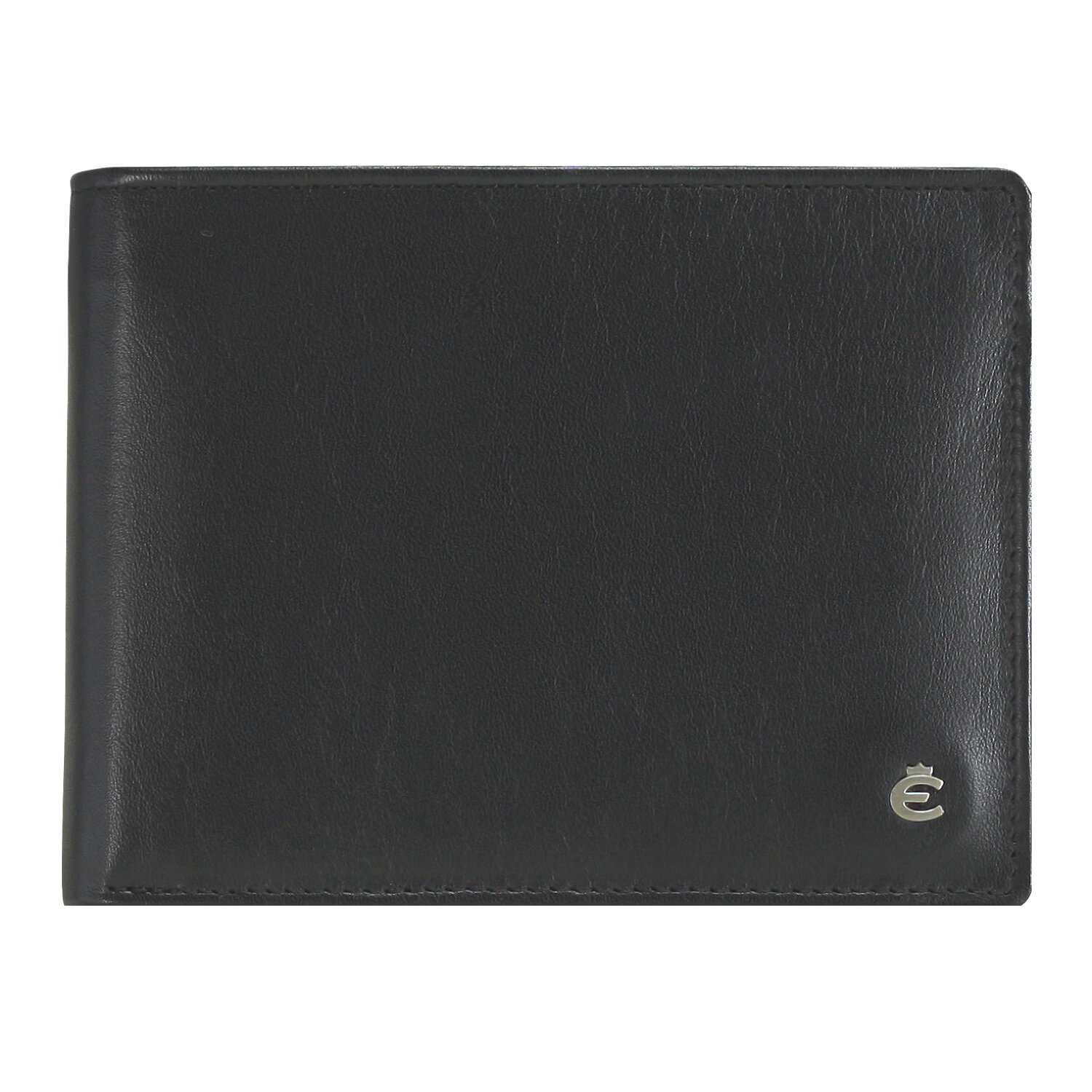 mywalit Large Flap Porte-monnaie cuir 12 cm black smokey grey